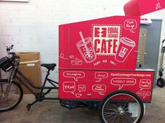 Mobile coffee cafe. Pedal powered.