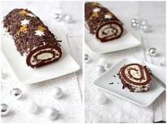 Bûche de Noël chocolat et mascarpone Beignets, Sweet Recipes, Birthday Candles, Favorite Recipes, Eat, Cooking, Food, Cake Rolls, Mousse