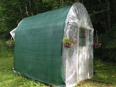 Make a Greenhouse from an Unused Dog Kennel