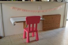 children's floating art table - I want a table for my litte one in our kitchen area but not the footprint and trip hazard.