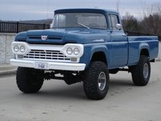 1960 Ford F100 4x4 LWB Cummins Diesel 4BT Swap For Sale Front