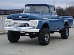 1960 Ford F100 4x4 LWB Cummins Diesel 4BT Swap For Sale Front