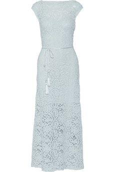 Miguelina Georgia crocheted cotton maxi dress