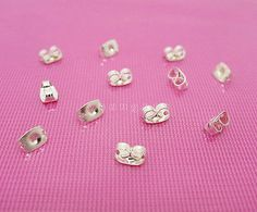 Wholesale 100 Pcs Silver Plated Butterfly Earring Backs Earring Findings Butterfly Earrings, Earring Backs, Silver Plate, Stud Earrings, Ebay, Jewelry, Jewlery, Silverware Tray, Jewerly