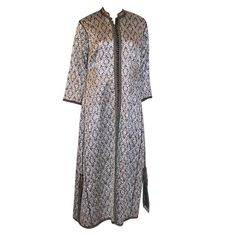 1920's Black & Silver Metallic/Lame Indian Robe | From a collection of rare vintage coats and outerwear at http://www.1stdibs.com/fashion/clothing/coats-outerwear/