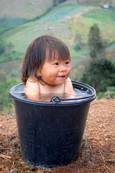 C'est l'heure du bain