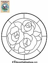 ★ Stained Glass Patterns for FREE ★ glass pattern 290 ★ Stained Glass Quilt, Stained Glass Flowers, Faux Stained Glass, Stained Glass Designs, Stained Glass Projects, Mosaic Designs, Stained Glass Patterns, Mosaic Patterns, Embroidery Patterns