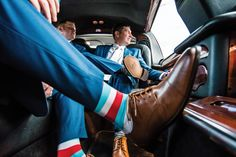 Groomsmen on their way to the Barry wedding. Photo by Chris Linscott.