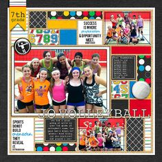 Barbara's Cre8ive Escape: Time for a volleyball page! Audacious Designs   Sports Fanatic kit