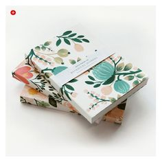 12 Products That Will Brighten Your Day! : Red Papaya #Rifle #Paper #notebooks #office #work #organization #stationary #flowers #color