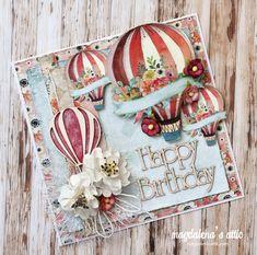 Hot air balloon ride – magdalena's attic Air Balloon Rides, Hot Air Balloon, Paper Cards, Diy Cards, A Christmas Story, Christmas Cards, Making Paper Mache, Balloon Crafts, Card Making Inspiration