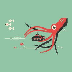 Illustration / Submarine, by Luke Bott — Designspiration