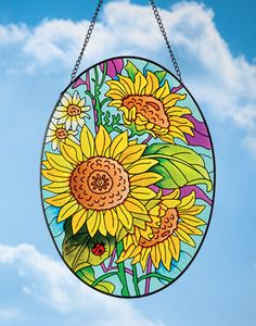 Floral Sunflower Suncatcher