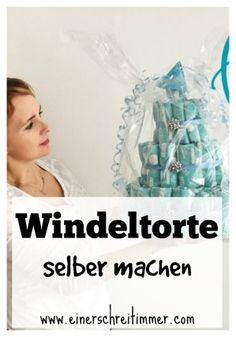 Windeltorte selber machen Erwarten Baby, Baby Kind, Babyshower Party, Baby Shower Parties, Basteln, Gifts For Girls, Childrens Gifts