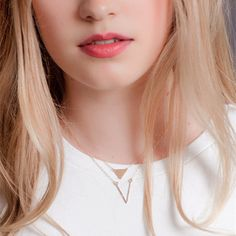 Women's Succinct Golden Necklace Short Chain Triangle Charm V Pendant Metal Necklace 2015 6W2Z-in Power Necklaces from Jewelry on Aliexpress.com   Alibaba Group
