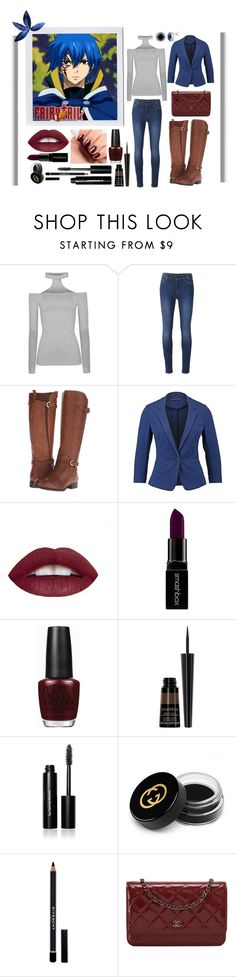 """Fairy Tail Jellal / casual outfit"" by stormtrooper117 ❤ liked on Polyvore featuring 7 For All Mankind, Naturalizer, even&odd, Smashbox, OPI, Essie, Bobbi Brown Cosmetics, Gucci, Givenchy and Chanel"