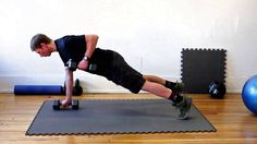 """This is """"Renegade rows"""" by Highland Training on Vimeo, the home for high quality videos and the people who love them. Workout Log, Plank Workout, Cycling Workout, Muscle Training, Weight Training, Best Exercise Bike, Renegade Rows, Strength Workout, Strength Training"""