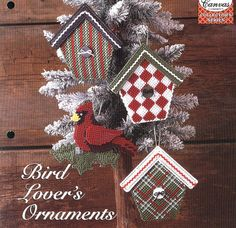 Bird Lover's Ornaments Plastic Canvas by needlecraftsupershop, $4.00
