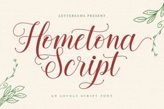 Hometona is a delicate and elegant handwritten font. Its distinct and well rounded letters make this font a masterpiece. Fall... Cursive Fonts, Handwritten Fonts, Typography Fonts, New Fonts, Lettering, Alphabet Fonts, Calligraphy Types, Icon Png, Microsoft Word 2010