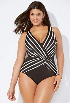 23fe3916f0 Swimsuits for All Women s Verge Surplice Swimsuit