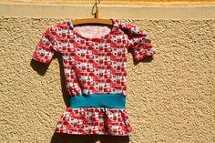 Upcycling - Aus großem T-Shirt wird Kinderkleidchen.