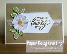 Paper Daisy Crafting: Daisy Lane card swap birthday card