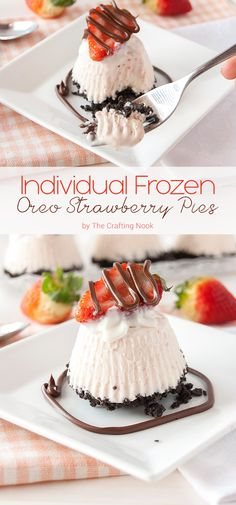 These individual frozen Oreo strawberry pies are so addictive and a delicious mix of flavors perfect for any occasion but specially for romantic ones!