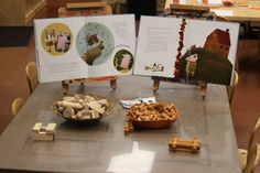Construction invitation: a book of The Three Little Pigs and building materials