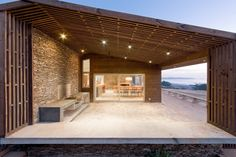 Built by LAND Arquitectos in Pichilemu, Chile with date Images by Sergio Pirrone. The commission was a house for a surfer and his family that would rescue typical elements of the architecture of the.