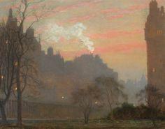 Kensington High Street, London   -   Sir Arthur Temple Felix Clay   British, 1842-1928  Oil on canvas, 12 x 15 inches (30.5 x 38.2 cm)