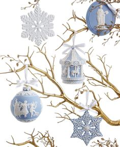 Wedgwood Christmas Ornament Collection - for the home - Macy's #MacysFavoriteThings----I have collected the wedgewood ornaments over the years.  I have one my great aunt gave me...love them