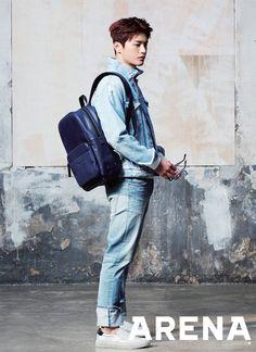 Seo In Guk in Arena Homme Plus Korea February 2017 Asian Actors, Korean Actors, Korean Dramas, Shopping King Louis, Latest Jeans, Seo In Guk, K Idol, Actor Model, Most Beautiful Man