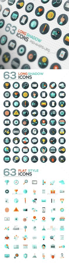 126 Flat Designed Icons Set — Photoshop PSD #object #development • Available here → https://graphicriver.net/item/126-flat-designed-icons-set/14712804?ref=pxcr