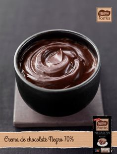 Crema de chocolate negro 70% Nestle Chocolate, Chocolate Desserts, Cheesecake, I Foods, Frosting, Bakery, Good Food, Food And Drink, Sweets