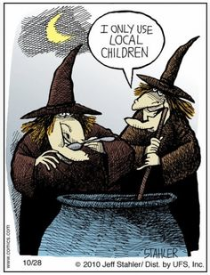 Get a laugh at the cracked minds of some funny cartoonists this Halloween season. From Denny: This midterm election season in . Happy Halloween, Holidays Halloween, Spooky Halloween, Vintage Halloween, Halloween Crafts, Halloween Humor, Halloween Cartoons, Halloween Poster, Healthy Halloween