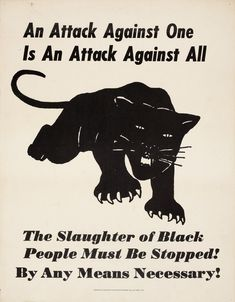 Distributed by the Robert Brown Elliott League, An Attack Against One is An Attack Against All, ca.1970. Lithograph on paper; Collection of Merrill C. Berman