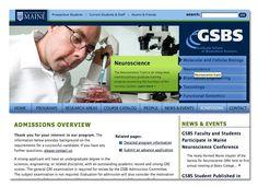 Diseño de sitio web para facultad de ciencias de la universidad de Maine