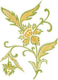 Retro flower free embroidery design. Machine embroidery design. www.embroideres.com