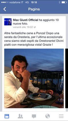 Orestorante #Ponza#Ospiti #Max&Benedetta
