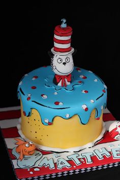 cat in the hat cake - Google Search