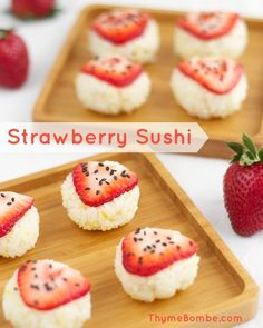 Inspirational idea: You will love this strawberry sushi