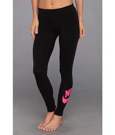 Nike Leg-A-See Logo Legging Black/Pink Foil - 6pm.com