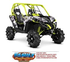 New 2016 Can-Am Maverick X mr 1000R Digital Camo & Manta ATVs For Sale in Texas. 2016 Can-Am Maverick X mr 1000R Digital Camo & Manta Green, Call David Aylor 2016 Can-Am® Maverick X mr 1000R Digital Camo & Manta Green READY FOR THE MUD STRAIGHT FROM THE FACTORY The purpose-built, mud-ready Maverick X mr is ready to tame muddy trails and closed-course mud bogs. With 101-HP, 30-inch mud tires and snorkels; take on any mud hole with confidence. Features may include: ROTAX 1000R V-TWIN ENGINE…