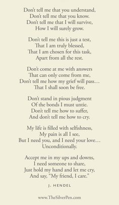 A poem about grief. Very powerful. And very true. Love this!