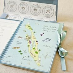 Travel theme invitations are perfect for your destination wedding! Photo: Laura Hooper Calligraphy