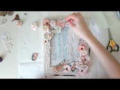 LADY-SCRAP: Свадебная шебби-фоторамка. Видео мастер-класс. Fling Unicirn DT.