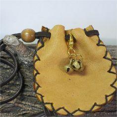 Handmade Leather Medicine Bag, Sage Pouch, Stone Bag, Reenactor Brass Bells