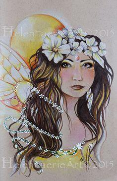 Fine Art Print 'Sunshine Daisy Faery' by HelenFaerieArt on Etsy https://www.etsy.com/uk/listing/238926183/fine-art-print-sunshine-daisy-faery