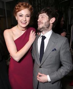 Game of Thrones: Sophie Turner and Iwan Rheon at the Game of Thrones 2016 season 6 premiere in LA.