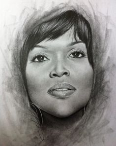 Someone who shared off their board name La Toya M., drawing of gospel singer Cece Winans.